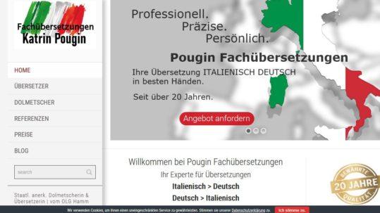 Italienisch Profi Webseite